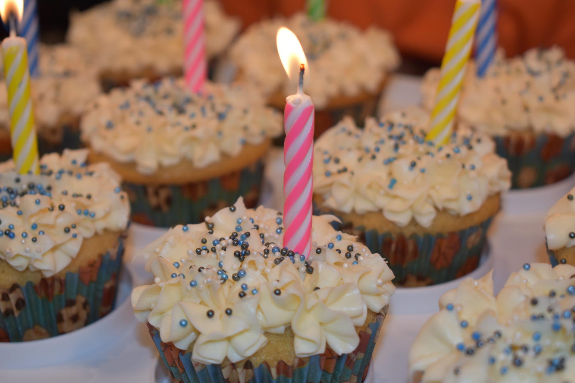Vegan Birthday Cupcakes