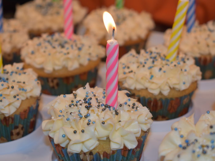 Vegan Birthday Cupcakes
